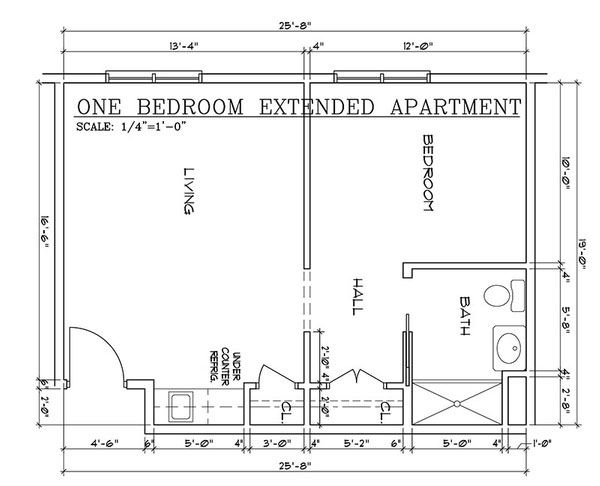 Wilton One Bedroom Extended