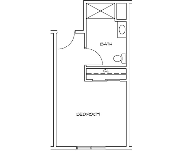 Moreau unit HC floor plan